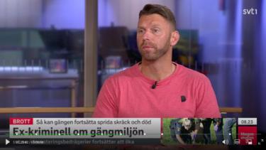 Peter Svensson i SVT morgonstudion om gängmiljön